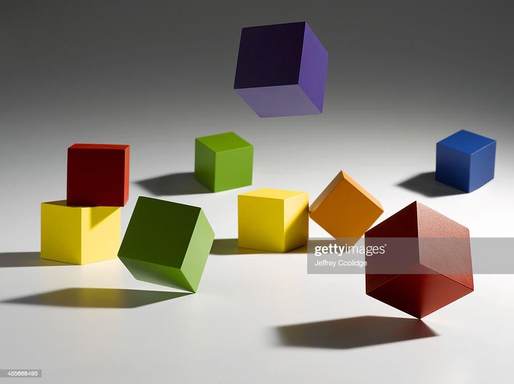 Falling Blocks : Stock Photo