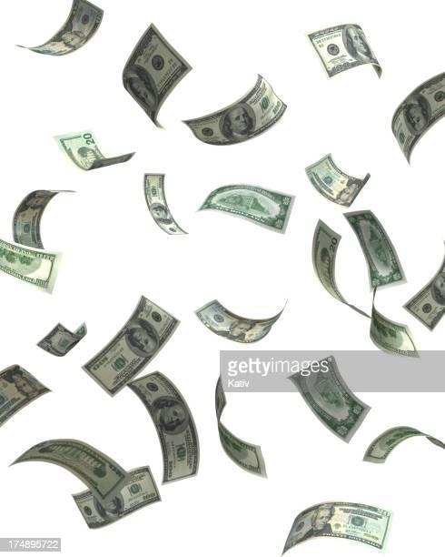Fallenden Bargeld (hoher Auflösung