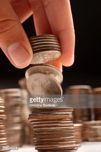 Falling Coins : Stock Photo
