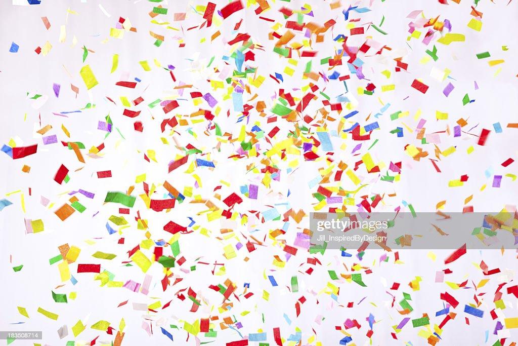 Falling confetti