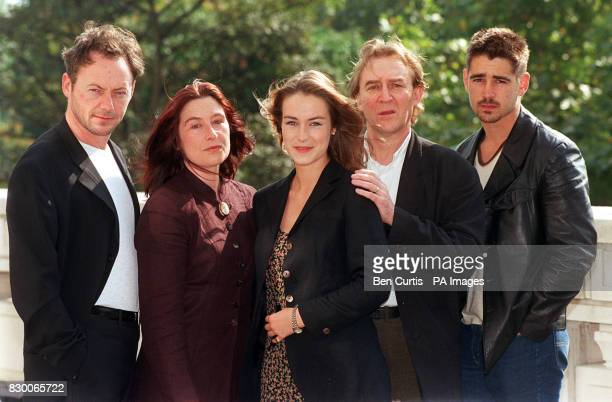 Falling For A Dancer stars Liam Cunningham Eleanor Methven Elisabeth DermotWalsh Dermot Crowley and Colin Farrell pose for the media during a...