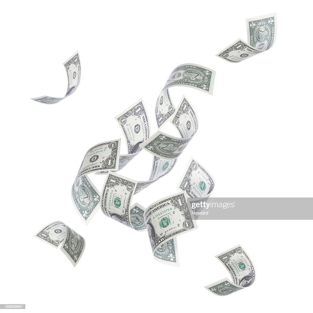 Falling Money : Stock Photo