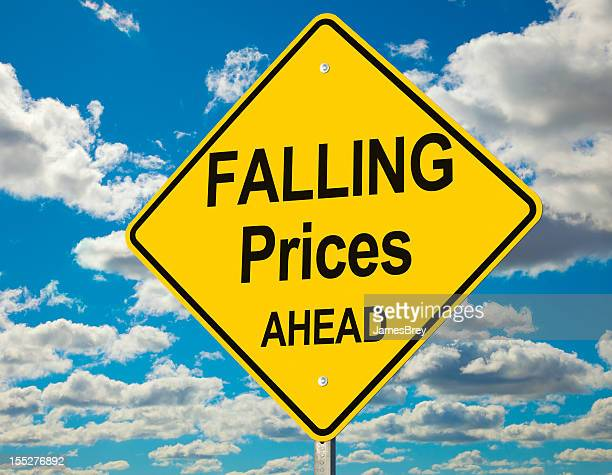 Falling Prices Ahead Road Sign