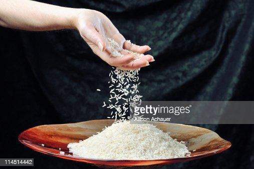 Falling rice