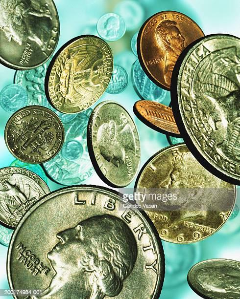 Falling US coins (Digital Composite)