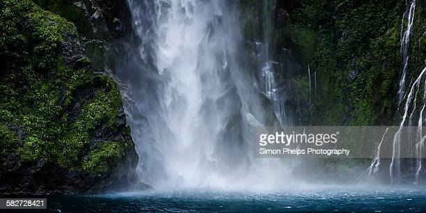 Falling water, Milford Sound, New Zealand