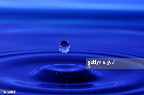 Falling waterdrop
