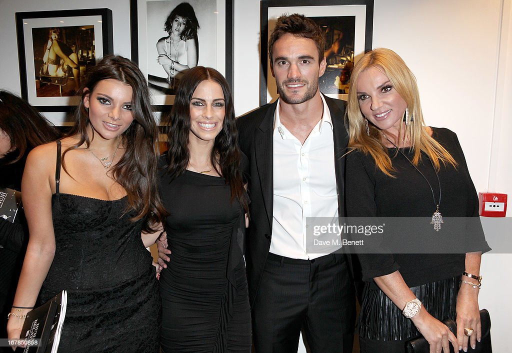 Fallon Khan, Jessica Lowndes, Thom Evans and Jacqui B attend a private view of 'Human Relations' featuring the photographs of Fenton Bailey and Mairi-Luise Tabbakh, curated by Sascha Bailey, at Imitate Modern on May 1, 2013 in London, England.