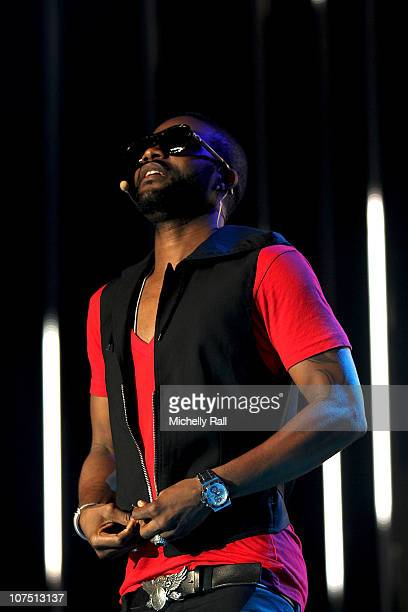 Fally Ipupa during rehearsals ahead of the MTV Africa Music Awards with Airtel at the EKO Expo Centre on December 10 2010 in Lagos Nigeria Photo by...