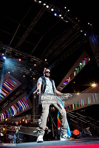 Fally Ipupa performs at the MTV Africa All Stars Concert on May 18 2013 in Durban South Africa