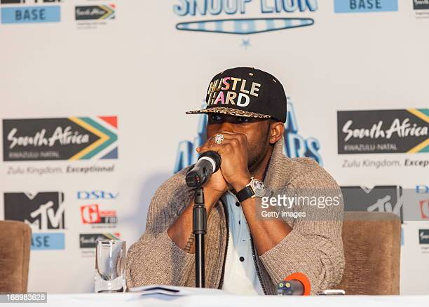 Fally Ipupa pictured at the press conference for MTV Africa All Stars KwaZuluNatal with Snoop Lion at Beverly Hills Hotel on May17 2012 in Durban...