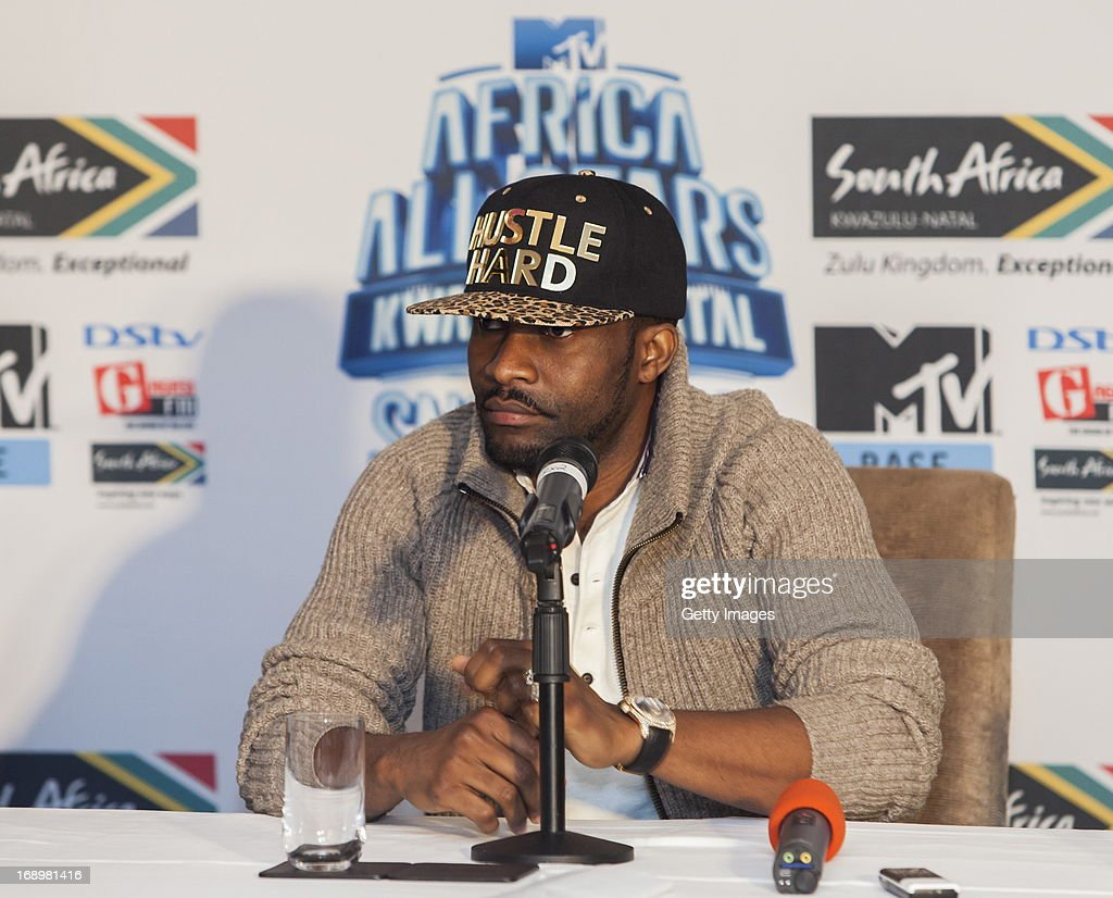 Fallyipupa at the press conference for the MTV Africa All Stars Concert on May17, 2013 in Durban, South Africa. Snoop Dog or Snoop Lion as he is now also known will be the headline act for the Concert.