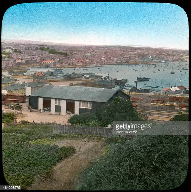 Falmouth Cornwall late 19th or early 20th century Lantern slide