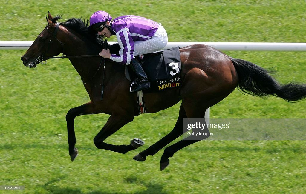 Fame And Glory ridden by jockey Johnny Murtagh wins the Tattersalls Gold Cup at Curragh Racecourse on May 23 2010 in Kildare Republic of Ireland