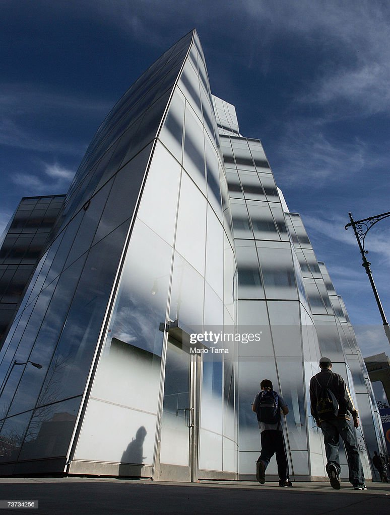 Famed architect Frank Gehry's first New York building the IAC Building is shown March 28 2007 in New York City The building still not totally...