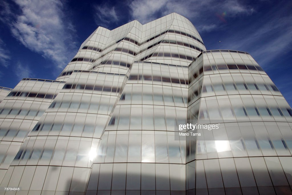 Famed architect Frank Gehry's first New York building the IAC Building is seen March 28 2007 in New York City The building still not totally...