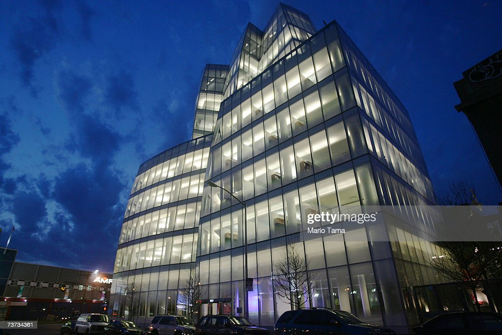 Famed architect Frank Gehry's first New York building the IAC Building is shown March 26 2007 in New York City The building still not totally...