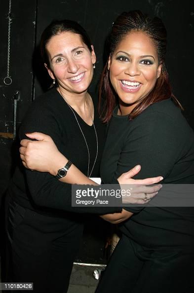 Famed make up artist Bobbi Brown and Kim Coles posing backstage