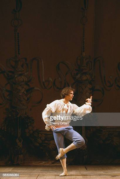 Famed Russian ballet dancer Rudolph Nureyev performs in Commedia dell'Arte's production of Arlequin Magicien par Amour The performance was...