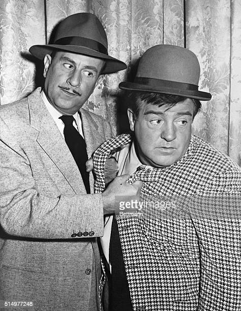 Famed screen comics Bud Abbott and Lou Costello are shown in a characteristic pose in this January 10 1952 file photo The 52yearold Costello died of...