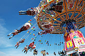 chairoplane at the oktoberfest in munich