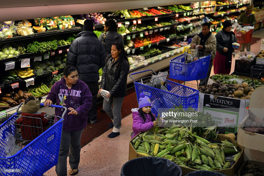 Families, mostly Hispanic, shop for produce at Todos Supermarket on Saturday, February 2, 2012, in Woodbridge, VA. Prince William County was a key battleground for immigration in the Washington area. Now the area is home to many working and middle class immigrants, both legal and not.