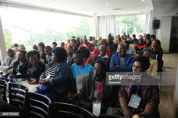 Families of victims gather during the Life Esidimeni arbitration hearing at Emoyeni Conference Centre Parktown on October 09 2017 in Johannesburg...