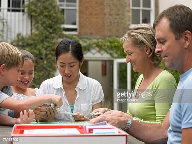 取引スチューデント遊ぶ家族とゲーム