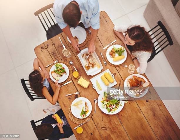 Family and food is one great recipe of love