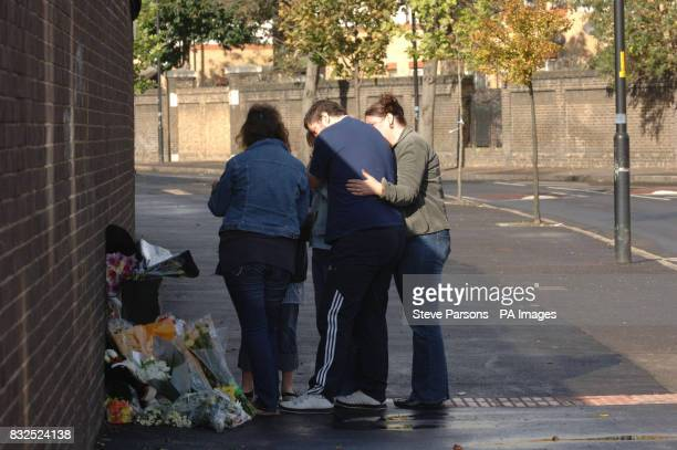 Family and friends lay flowers at the site of a hitandrun incident in Southwark after Billy Donnelly aged 19 months died after being hit by a stolen...