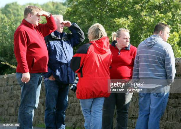 Family and friends watch rescue teams search for missing James Elliott from Bushmills Co Antrim