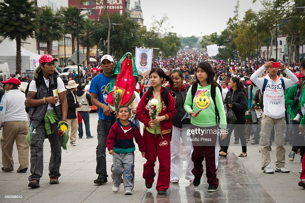 A family arrives at the Basilica of Our Lady of Guadalupe The Basilica of Our Lady of Guadalupe in Mexico City is one of most popular Marian shrines...