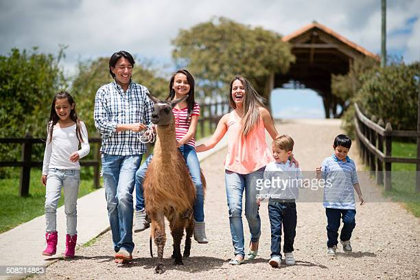 Family at an animal park