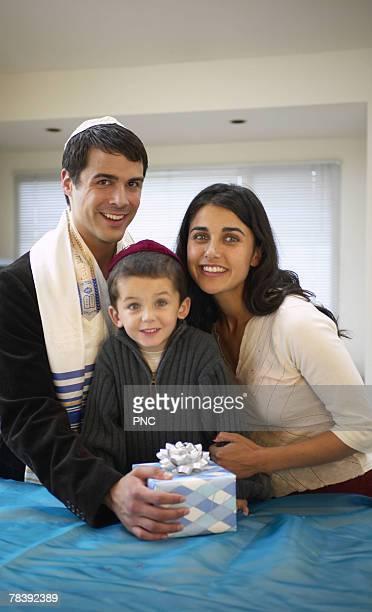 Family at Chanukah