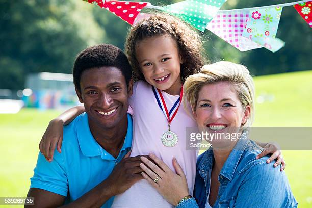 Family at Childs Sports Day