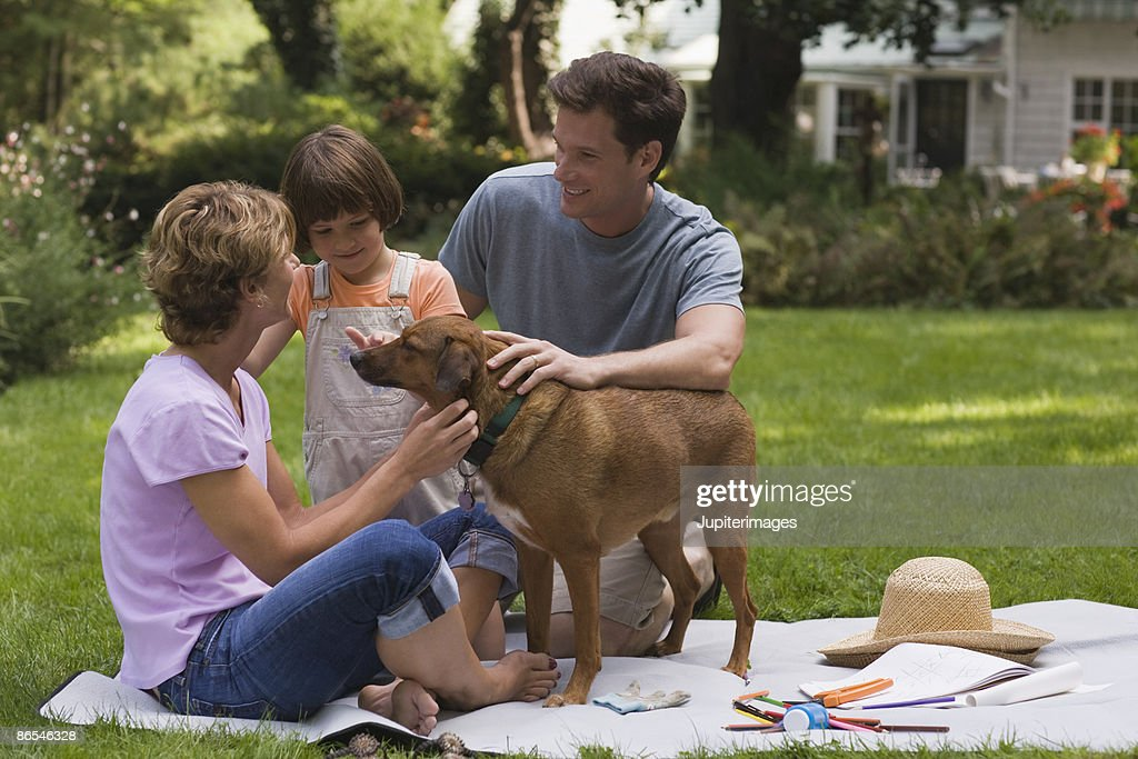 Family at picnic : Stock Photo