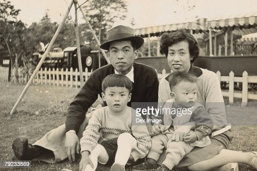 Family at the park : Stock Photo