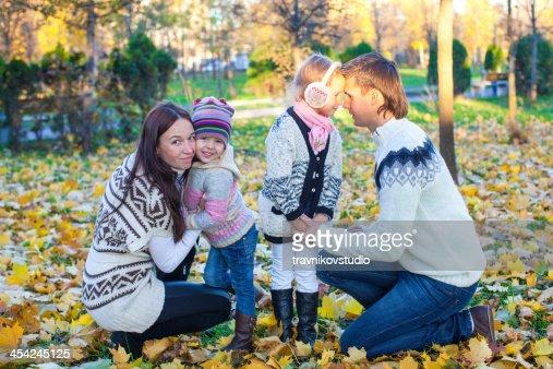 Family autumn vcation : Stock Photo