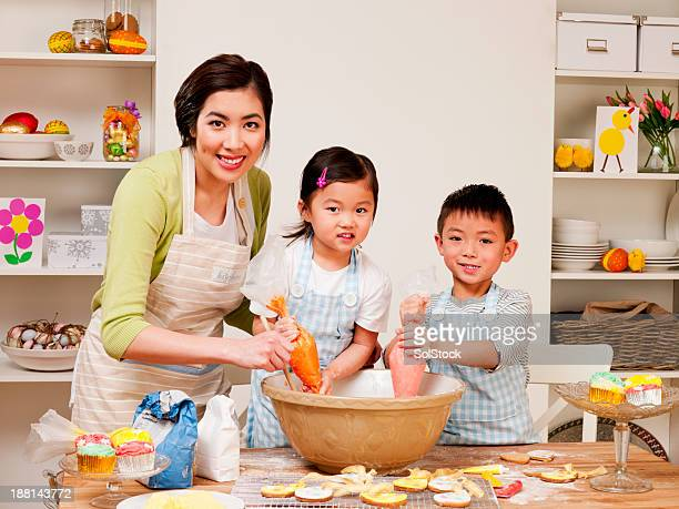 Family Baking at Easter Time