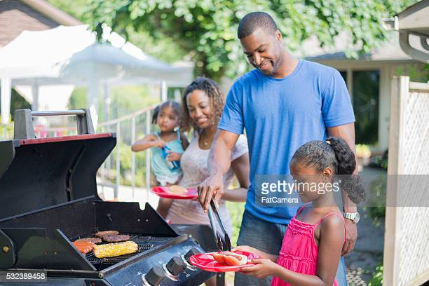 Family Barbecue on Father's Day