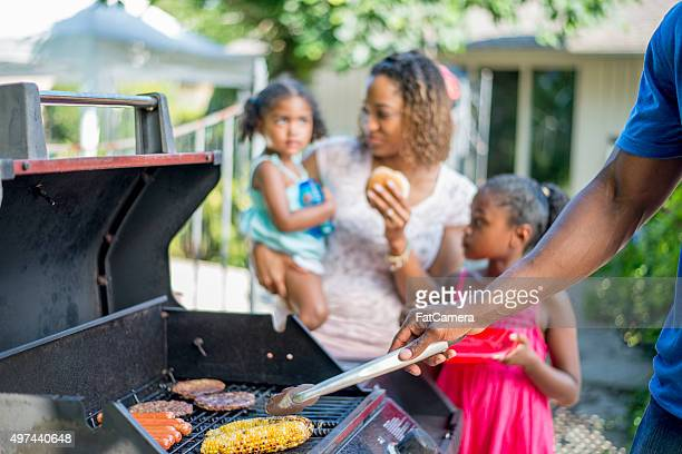 Family BBQ in the Backyard