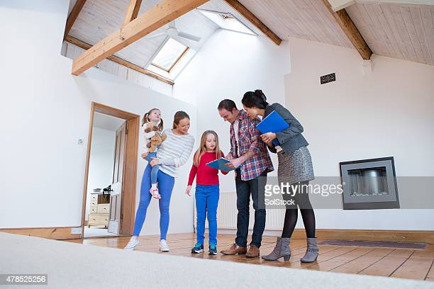 Family Being Shown a New Home