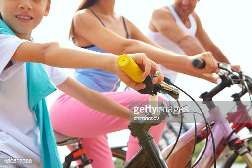 Family bikes : Stock Photo
