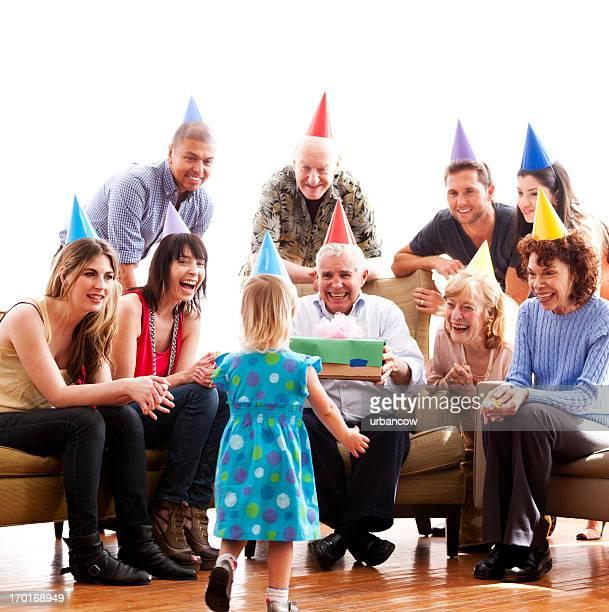 Familia celebración de cumpleaños