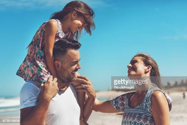 Family bonding on the beach