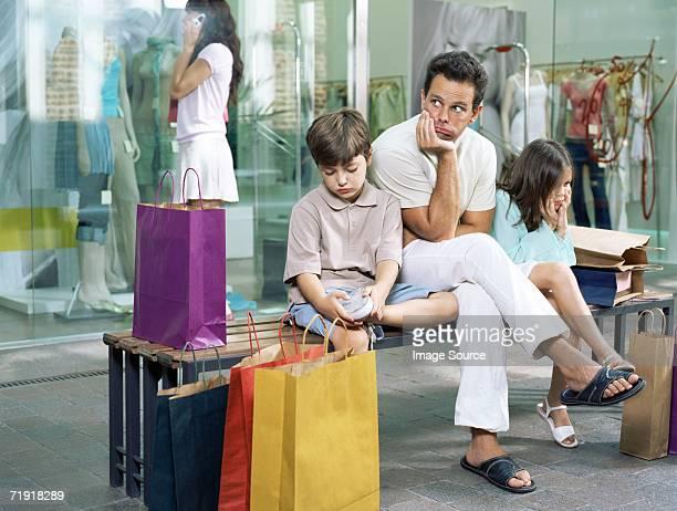 Instants en famille en attente
