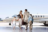 Family by airplane