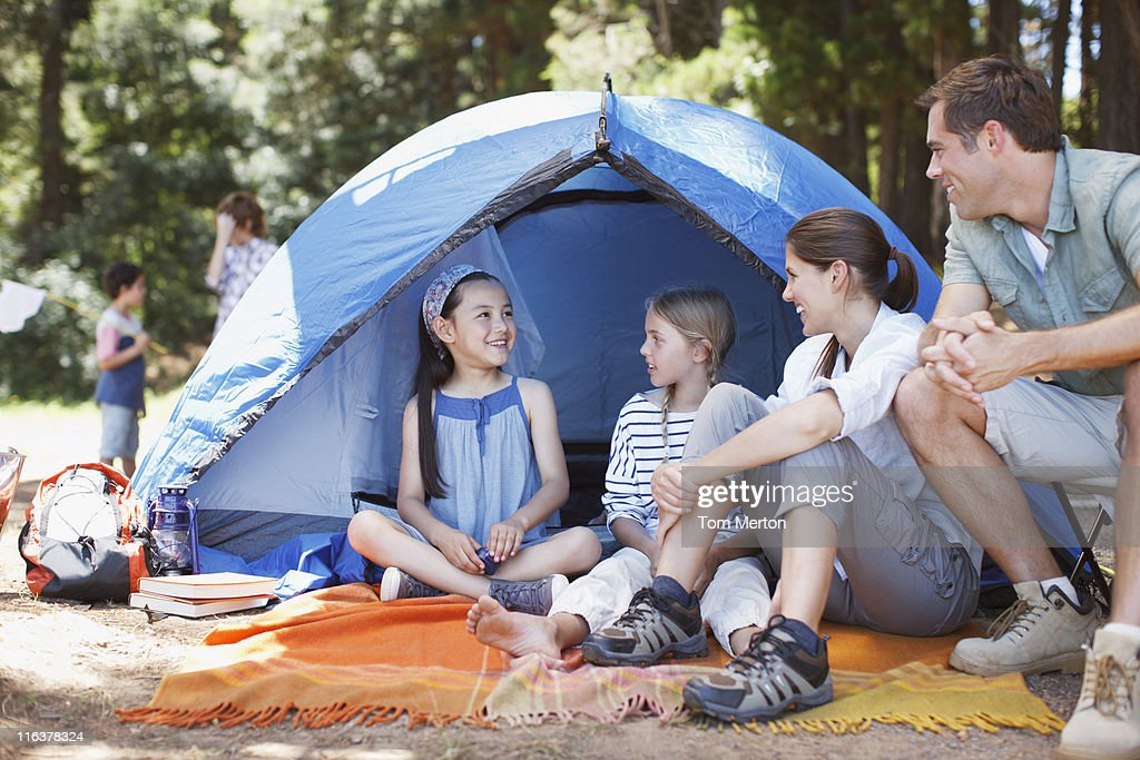 Family camping : Stock Photo