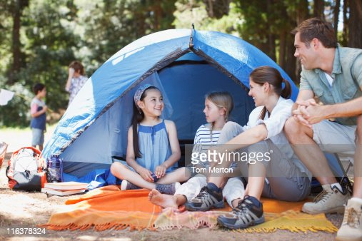 Family camping : Stock Photo