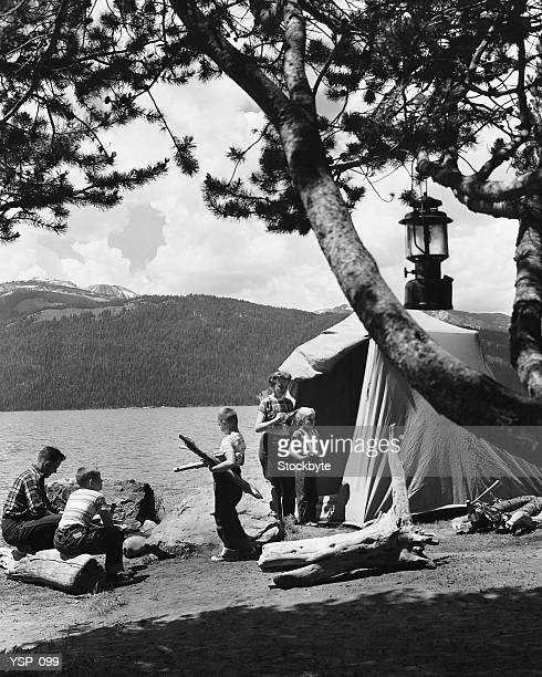 Famiglia campeggio